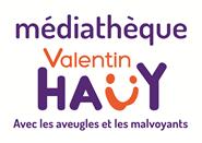 Titre: Logo de la médiathèque de l'association Valentin Haüy