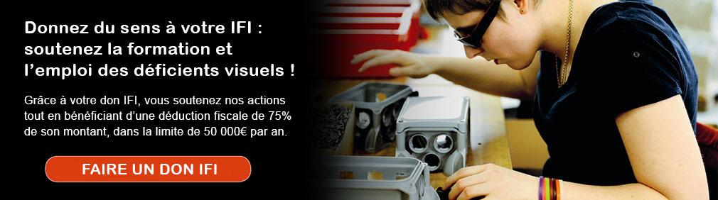Donnez du sens à votre IFI : soutenez la formation et l'emploi des déficients visuels !